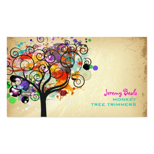 PixDezines Vintage Grunge Tree Trimmers ♥♥♥♥ Business Card Templates
