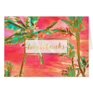 PixDezines Vintage Hawaii/Thank You Card