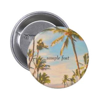 PixDezines vintage hawaiian beach 6 Cm Round Badge