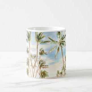 PixDezines Vintage Hawaiian Beach/Blue Sky Coffee Mug