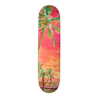 PixDezines Vintage Hawaiian Beach/Coral/Teal Skateboard Decks