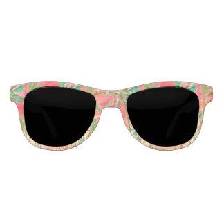 PixDezines Vintage Hawaiian Beach/Coral+Teal Sunglasses