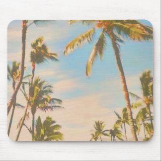 PixDezines vintage hawaiian beach Mouse Pad