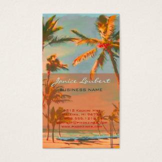PixDezines Vintage Hawaiian Beach Scene