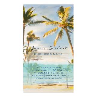 PixDezines vintage hawaiian beach scene Pack Of Standard Business Cards