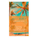 PixDezines Vintage Hawaiian Beach Scene Pack Of Standard Business Cards
