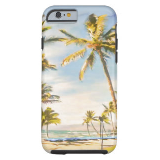 PixDezines Vintage Hawaiian Beach Scene/ Tough iPhone 6 Case