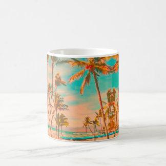 PixDezines Vintage Hawaiian Beach/Teal Coffee Mug