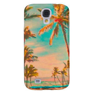 PixDezines Vintage Hawaiian Beach/teal Samsung Galaxy S4 Case