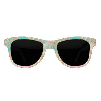 PixDezines Vintage Hawaiian Beach/Teal Sunglasses