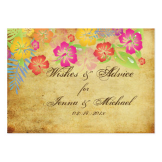 PixDezines Vintage Hibiscus Advice Cards Business Cards