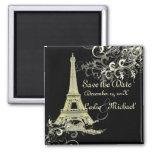 PixDezines Vintage La Tour Eiffel, Save the Date