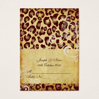 PixDezines Vintage Leopard place cards, chubby Business Card