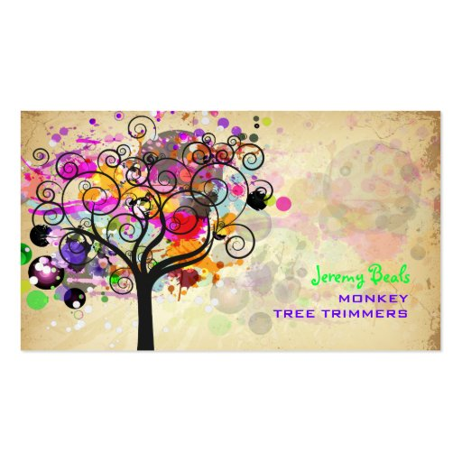 PixDezines Vintage/pink Grunge Tree Trimmers ♥♥♥ Business Cards