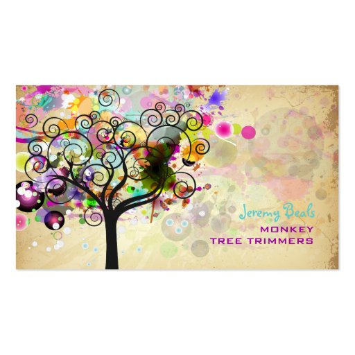 PixDezines Vintage/pink Grunge Tree Trimmers ♥♥♥ Business Card Template