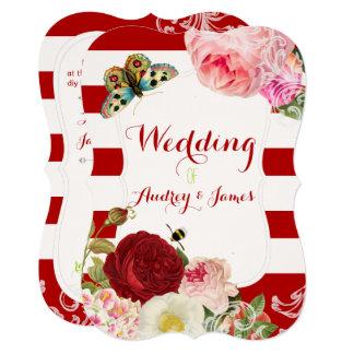PixDezines vintage roses/peonies/primrose Card