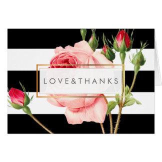 PixDezines Vintage Roses/Redoute/Thank You Card