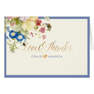PixDezines Vintage Still Life/Redoute/Thank You Card