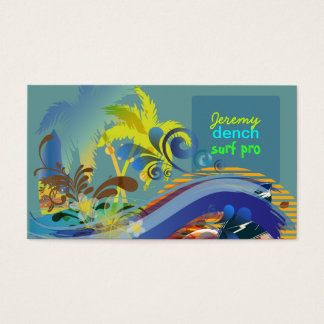 PixDezines vintage surfers at sunset, Hawaii ♥♥♥♥♥ Business Card