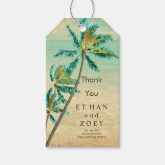 PixDezines Vintage Swaying Palm Trees/Hawaii Gift Tags