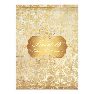 PixDezines vintage sweet 16/princess/damask Personalized Invites