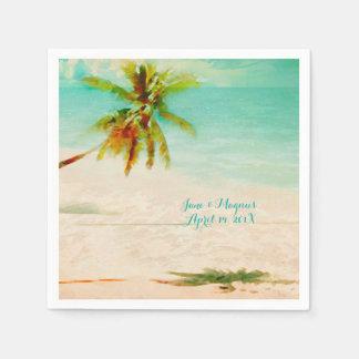 PixDezines Vintage Tropical Beach Disposable Serviette
