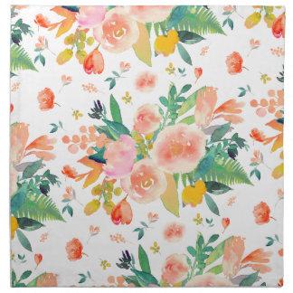 PixDezines Watercolor Flowers/DIY background Napkin