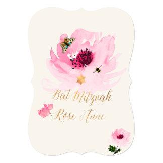 PixDezines Watercolor/Water Rose/Bat Mitzvah Card