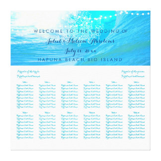 PixDezines waves/beach/wedding seating chart Gallery Wrapped Canvas