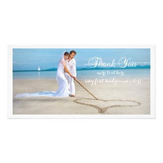 PixDezines wedding photo DIY font thank you Photo Greeting Card
