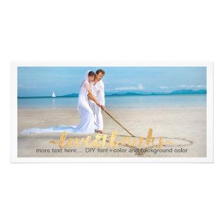 PixDezines wedding photo thank you/DIY background Personalized Photo Card