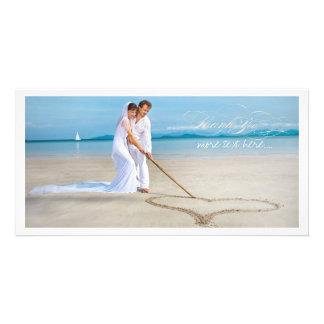 PixDezines wedding photo thank you Photo Card Template