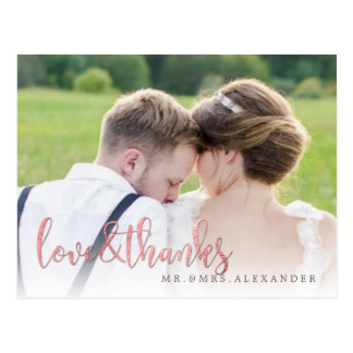 PixDezines Wedding Thank You/Fun Script Postcard
