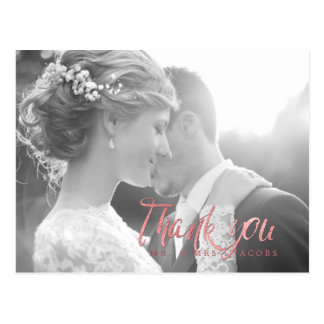 PixDezines Wedding Thank You/Rose Gold Script Postcard