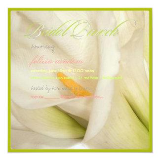 PixDezines white calla lily/bridal brunch Card