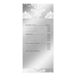 PixDezines White Damask, Spa Services Menu