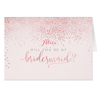PixDezines Will You Be My Bridesmaid, Faux Foil Card