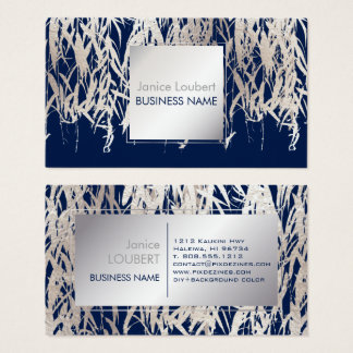 PixDezines Willow/Faux Silver Foil/DIY background Business Card
