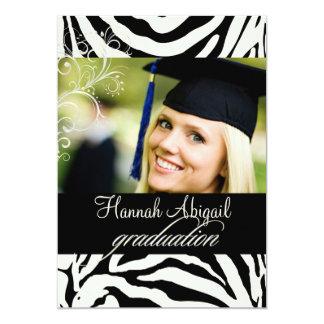 PixDezines Zebra Print 2011 Graduation Invites