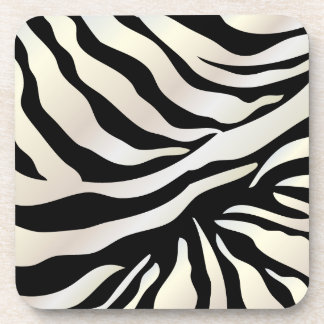 PixDezines Zebra print/DIY colors Beverage Coasters