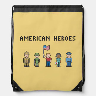 Pixel American Heroes Backpacks