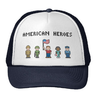 Pixel American Heroes Cap