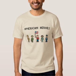 Pixel American Heroes Shirts
