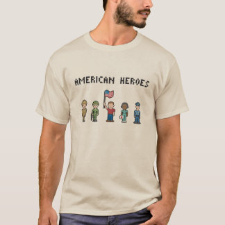 Pixel American Heroes T-Shirt