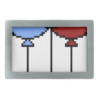 Pixel Art Balloons Rectangular Belt Buckle