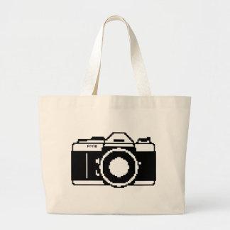 Pixel Art Camera Tote Bag