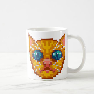 Pixel-Art Kitten Coffee Mug