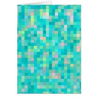 Pixel Art Multicolor Pattern Card