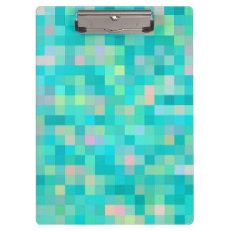 Pixel Art Multicolor Pattern Clipboard