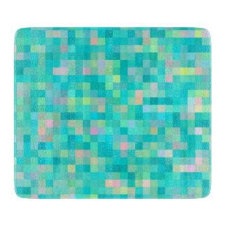 Pixel Art Multicolor Pattern Cutting Board